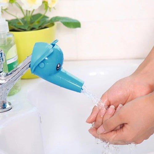 Ванный интерьер - Мультяшная насадка на кран