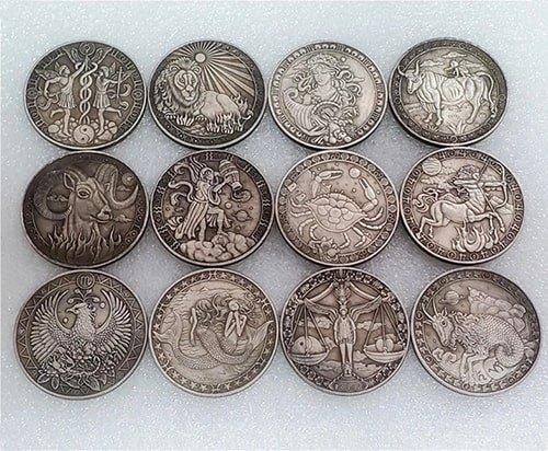 Набор монет созвездия зодиака