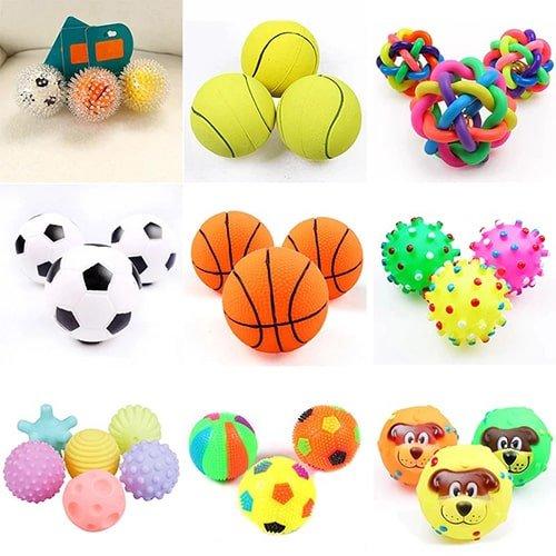 Резиновый мяч для жевания и игр
