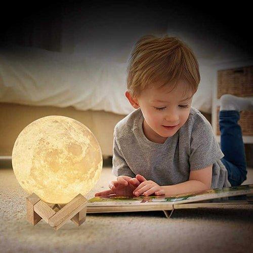 Светодиодный ночник ZK20 с 3D рисунком Луны